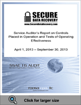 SSAE 16 Type II Report Cover Page